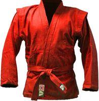 Куртка для самбо JS-302 (р. 00/120; красная)