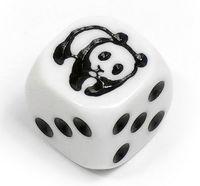 """Кубик D6 """"Панда"""" (белый)"""