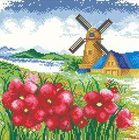 """Алмазная вышивка-мозаика """"Мельница"""" (арт. АЖ-43)"""