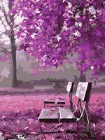 "Картина по номерам ""Скамейка в парке"" (400х500 мм)"