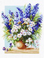 """Канва с нанесенным рисунком """"Голубой фонтан"""""""