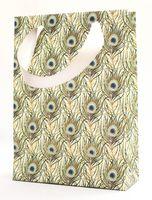 """Пакет бумажный подарочный """"Peacock Feathers"""" (23,5х17х7 см)"""