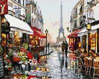 """Алмазная вышивка-мозаика """"Люблю тебя! Париж!"""" (400х500 мм)"""