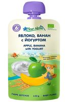 """Детское пюре Fleur Alpine Organic """"Яблоко, банан с йогуртом"""" (120 г)"""