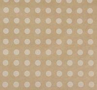 "Крафт-бумага упаковочная в рулоне ""Белый горох"""