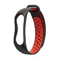Ремешок для Xiaomi Mi band 3 Sport (черно-красный)