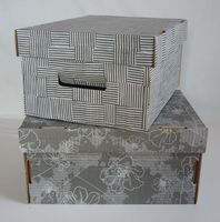 Набор коробок (2 шт.; серый)