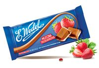 "Шоколад молочный ""E. Wedel"" (100 г; клубника)"