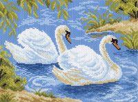 "Вышивка крестом ""Тундровые лебеди"" (170х240 мм)"