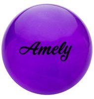 Мяч для художественной гимнастики AGB-102 (15 см; фиолетовый с блёстками)