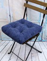 """Подушка на стул """"Velours"""" (40х40 см; серо-голубая)"""