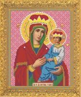 """Вышивка бисером """"Пресвятая Богородица. Споручница Грешных"""" (190х240 мм)"""
