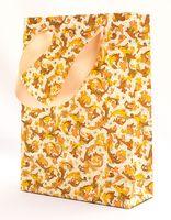 """Пакет бумажный подарочный """"Traditional"""" (23,5х17х7 см; оранжевые элементы)"""