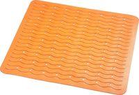 """Коврик для ванной резиновый """"Волна"""" (54х54 см; оранжевый)"""