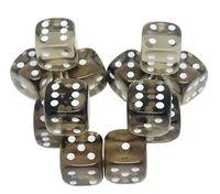 """Набор кубиков D6 """"Прозрачный"""" (12 мм; 12 шт.; черный)"""