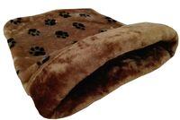 """Лежанка-мешочек """"Лапки"""" (45х65х25 см; коричневая)"""