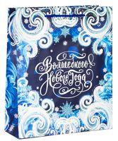 """Пакет бумажный подарочный """"Новогоднее волшебство"""" (18х23х8 см)"""