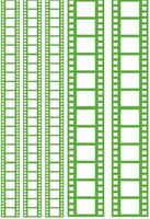 "Пленка-оверлей ""Кинопленка"" (210х300 мм; зеленый)"