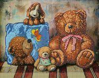 """Вышивка бисером """"Плюшевые медведи"""" (арт. 56018)"""