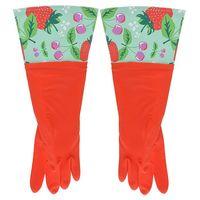 Перчатки кухонные с манжетой красные (арт. 29487)