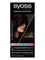 """Крем-краска для волос """"Syoss"""" тон: 3-1, темно-каштановый"""