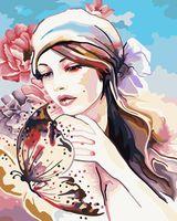"Картина по номерам ""Нежность бабочки"" (400х500 мм)"