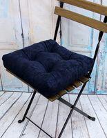 """Подушка на стул """"Velours"""" (40х40 см; тёмно-синяя)"""