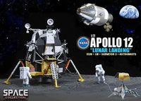 """Набор миниатюр """"Apollo 12 Lunar Landing CSM & Lunar Module & Surveyor 3 & Astronauts"""" (масштаб: 1/72)"""