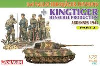 "Набор миниатюр ""3rd Fallschirmjager Division & Kingtiger Henschel Production Ardennes 1944 Part 2"" (масштаб: 1/72)"