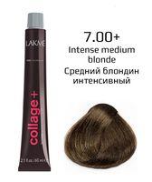"""Крем-краска для волос """"Collage+ Intense Creme Hair Color"""" (тон: 7/00+, средний блондин интенсивный)"""