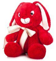 """Мягкая игрушка """"Заяц Мартин"""" (34 см; красный)"""