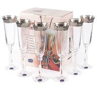 """Бокал для шампанского стеклянный """"Angela"""" (6 шт.; 190 мл; арт. 40600/378500/190)"""