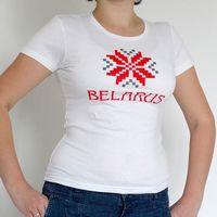 """Футболка женская Vitaem """"Belarus"""" (белая) (M)"""