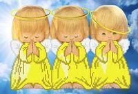 """Вышивка бисером """"Три ангелочка"""""""