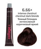 """Крем-краска для волос """"Collage+ Intense Creme Hair Color"""" (тон: 6/66+, темный блондин интенсивный коричневый яркий)"""