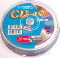 Диск CD-R 700Mb 52x Ridata CakeBox 10