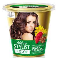 """Краска для волос """"Nature Stylist Color"""" тон: 5.3, золотистый каштан"""
