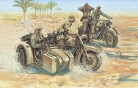 """Набор миниатюр """"Немецкие мотоциклисты"""" (масштаб: 1/72)"""