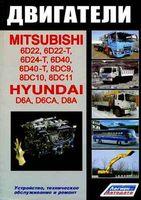 Mitsubishi 6D22, 6D22-T, 6D24-T, 6D40, 6D40-T, 8DC9T, 8DC10, 8DC11 8. Hyundai D6AU, D6AZ, D6AB, D6AC, D6CA, D8AY, D8AX. Двигатели