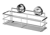 Полка для ванной металлическая на присосках (305х115х146 мм)