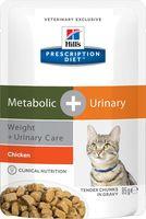 "Пресервы для кошек ""Metabolic and Urinary"" (85 г; курица)"