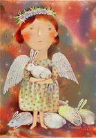 """Магнит на холодильник """"Белые кролики"""" (арт. 11.32)"""