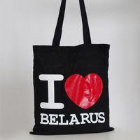 """Сумка с длинными ручками Vitaem """"I LOVE BELARUS"""" (черная)"""
