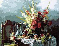 "Картина по номерам ""Букет гладиолусов"" (400х500 мм)"