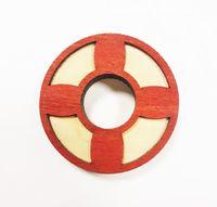 """Значок деревянный """"Спасательный круг"""""""