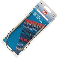 Спицы круговые для вязания (алюминий; 5 мм; 60 см)