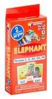Elephant. Читаем C, G, SH, CH, PH. Набор карточек. Английский язык. 4 уровень