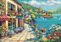 "Вышивка крестом ""Вид на кафе"" (арт. DMS-65093)"