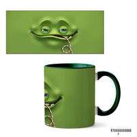 "Кружка ""Face"" (666, зеленая)"