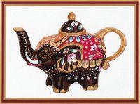 """Вышивка крестом """"Чайный слоник"""" (260х190 мм)"""